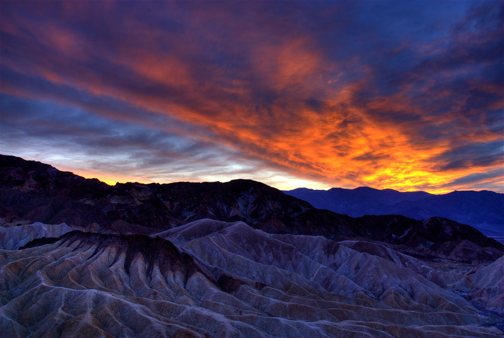 Sunset in Death Valley