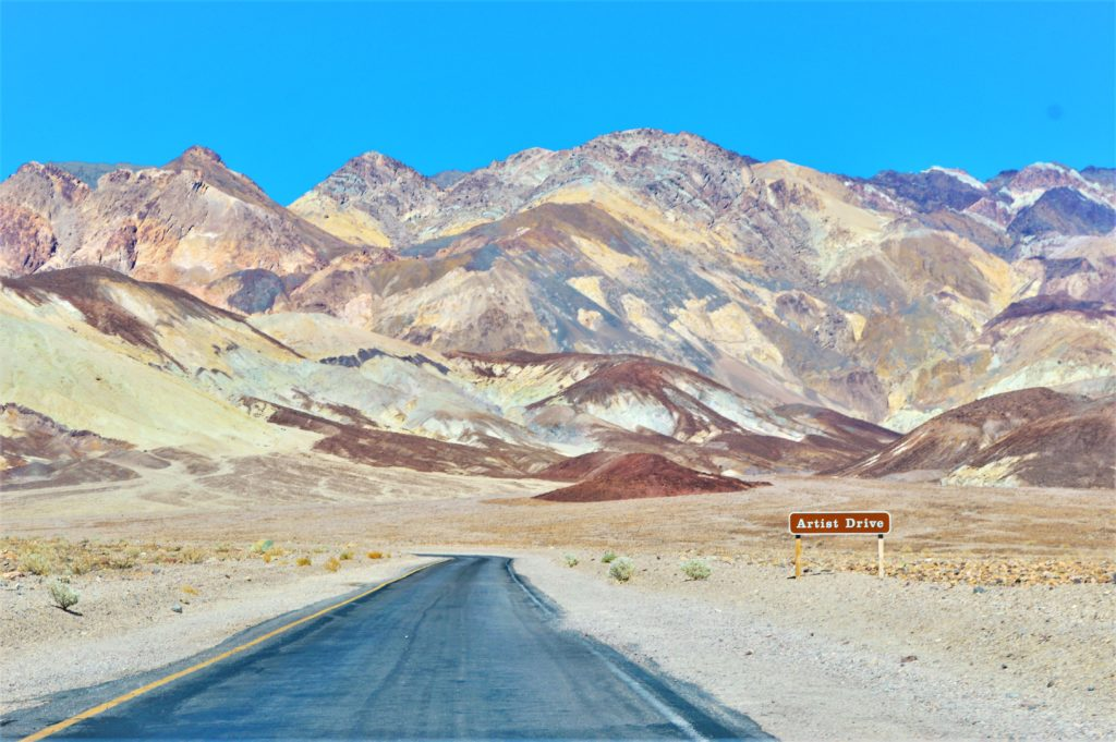 Artist Drive, Death Valley national park, USA
