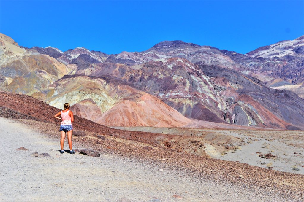 Artist paint pots, death valley national park, usa