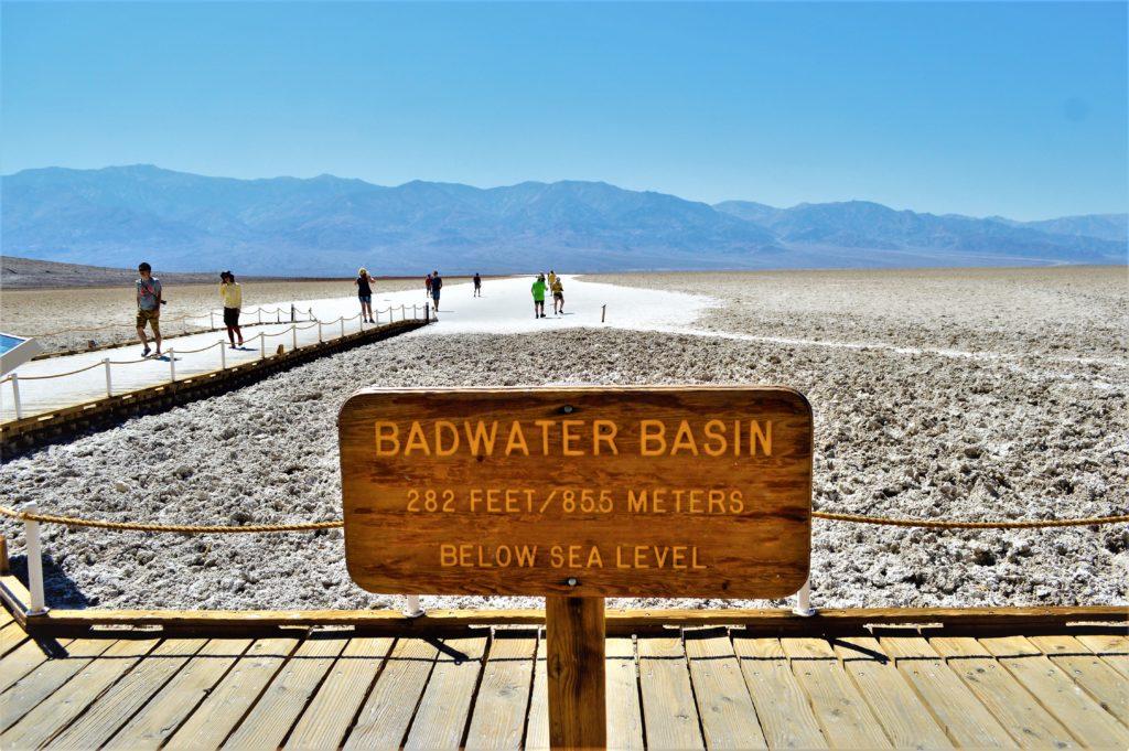 Badwater Basin salt flats, death valley national park, usa