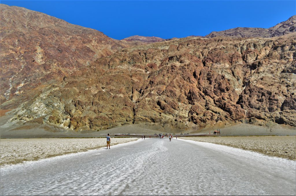 Badwater Basin salt flats in death valley, usa