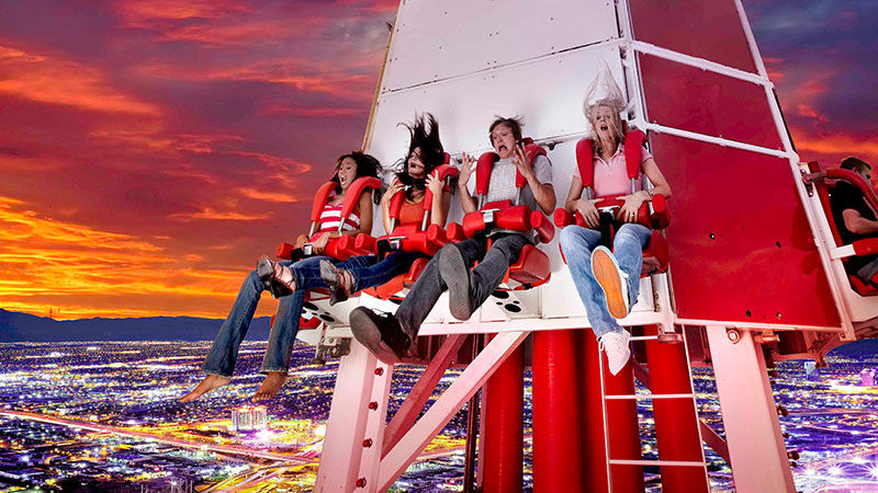 Big Shot ride, top of stratosphere, las vegas