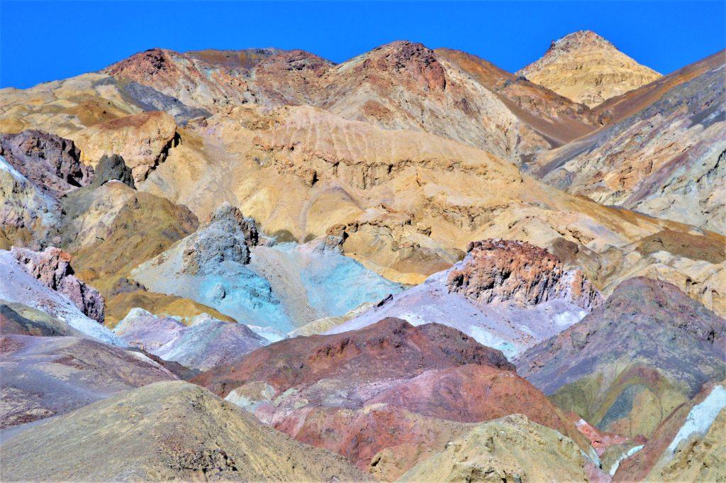 Colorful paint pots, death valley national park, usa