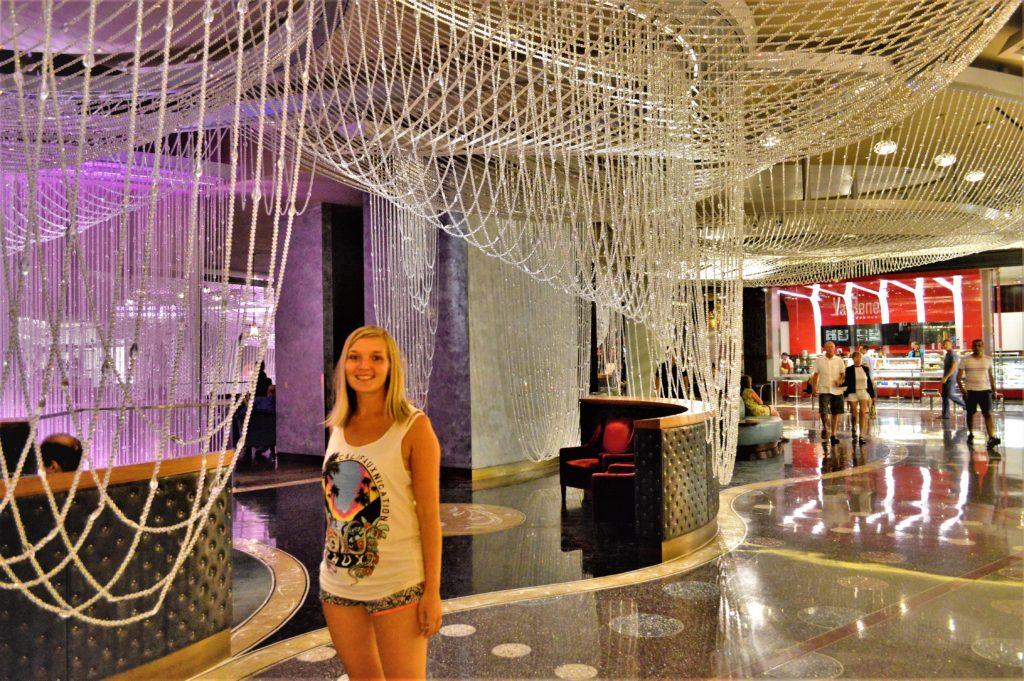 Crystal beads, cosmopolitan hotel, las vegas, nevada