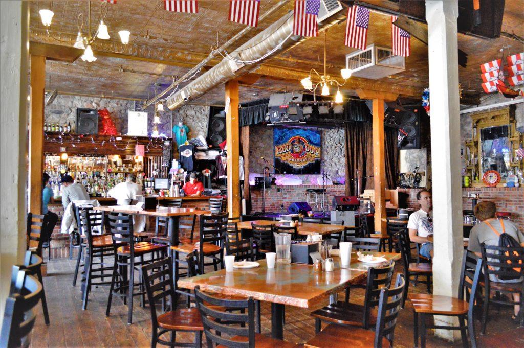 Inside a saloon at Virginia City, Nevada