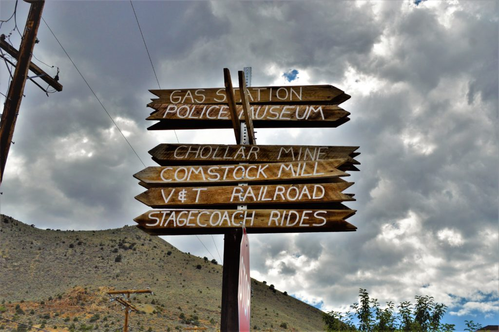 Signpost in Virginia City, Things to do in Virginia City
