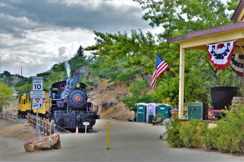 Steam train Truckee, Virginia City, Nevada