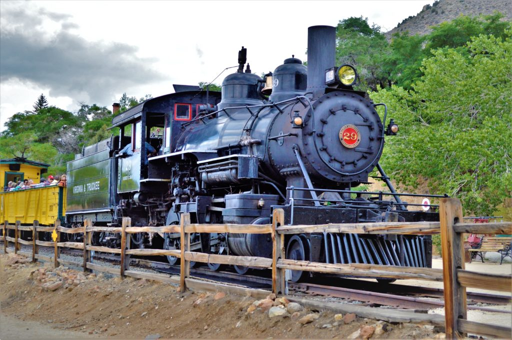 Steam train, Virginia City, Nevada