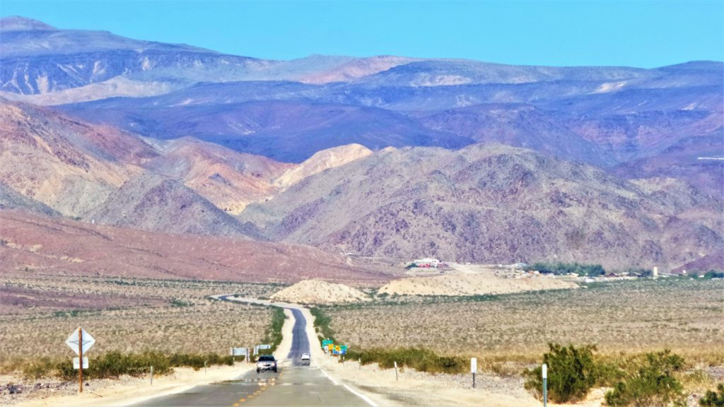 Driving through death valley national park, usa