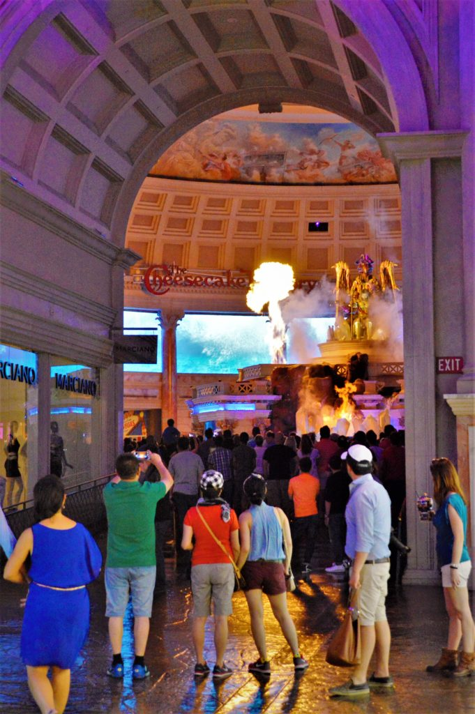 Fire at the God of Atlantis Show, Caesar's Palace, Las Vegas, Nevada