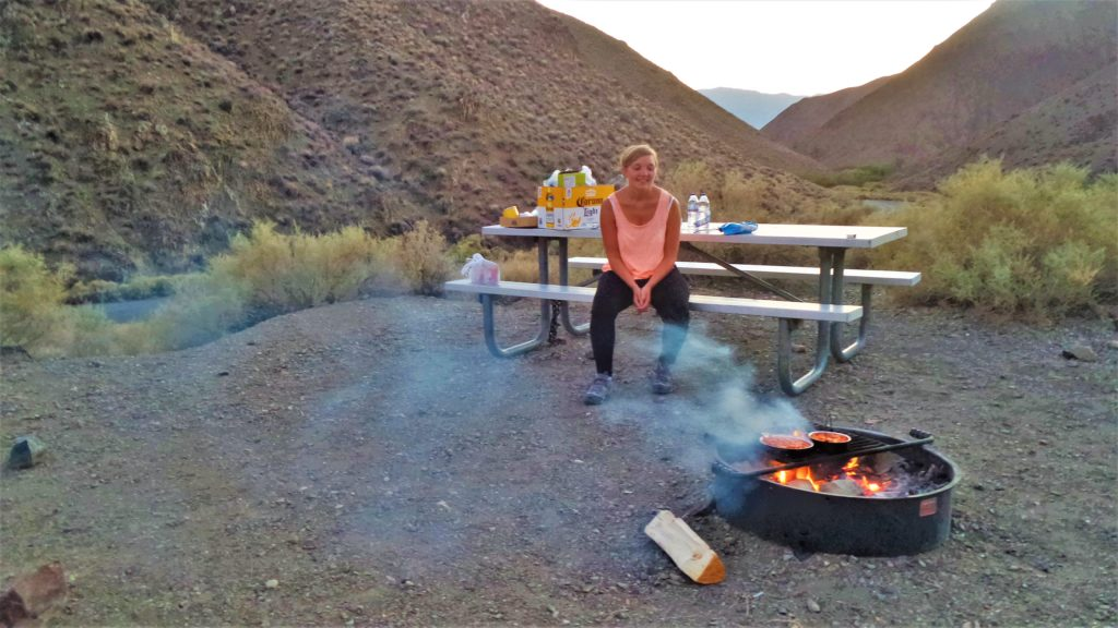Fire pit camping in death valley national park