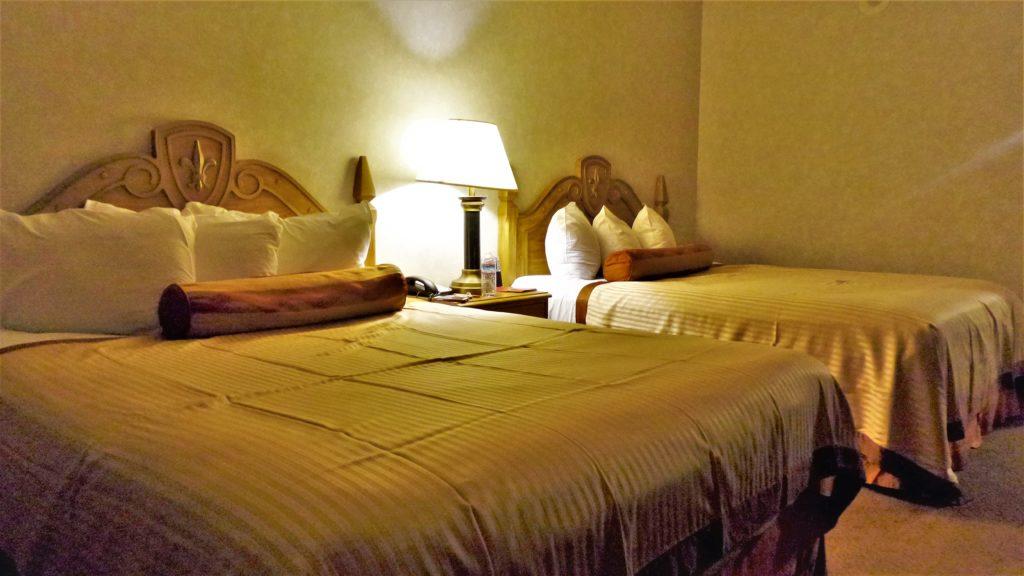 Excalibur hotel bedroom, las vegas