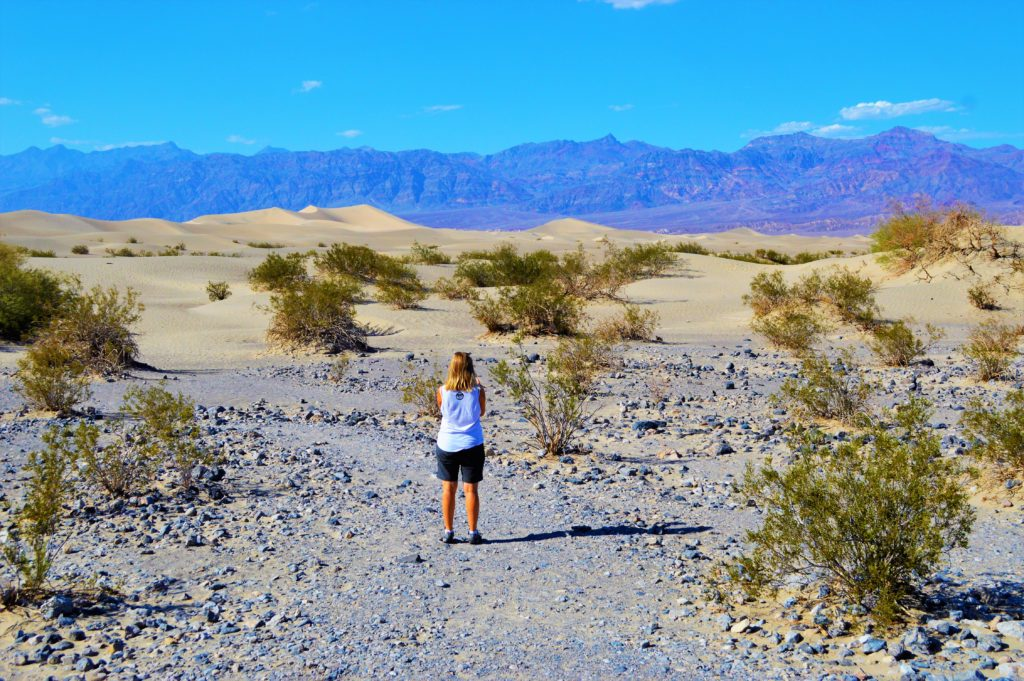 Nicola in Death Valley, Nevada California