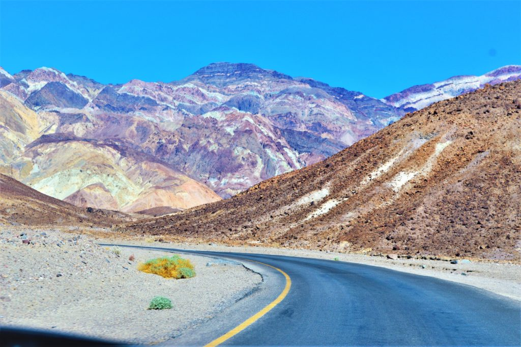 Road through Artist Drive, Death Valley National Park, USa