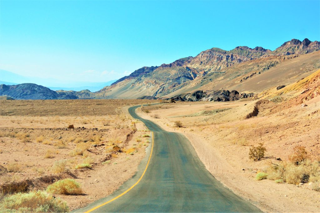 Road through Death Valley national park