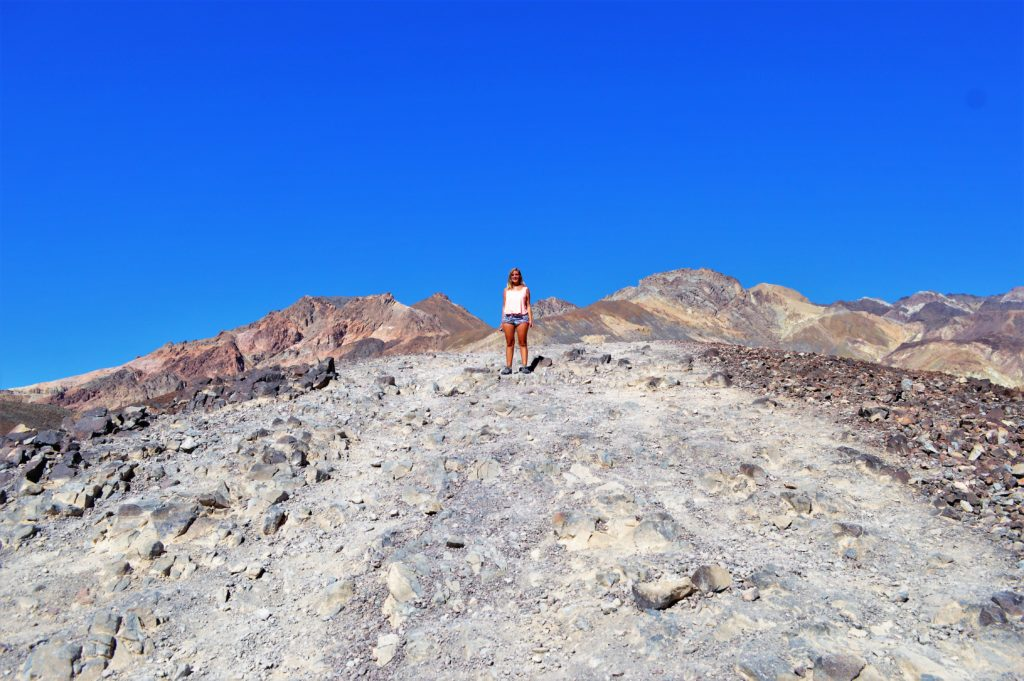 Rock hills at artist paint pots, death valley national park