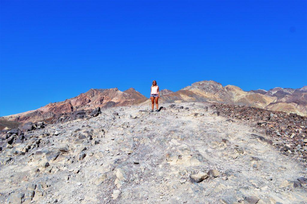 Rock hills at artist paint pots, death valley national park