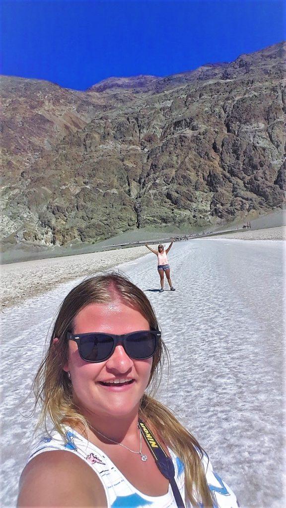 Selfie in death valley, usa