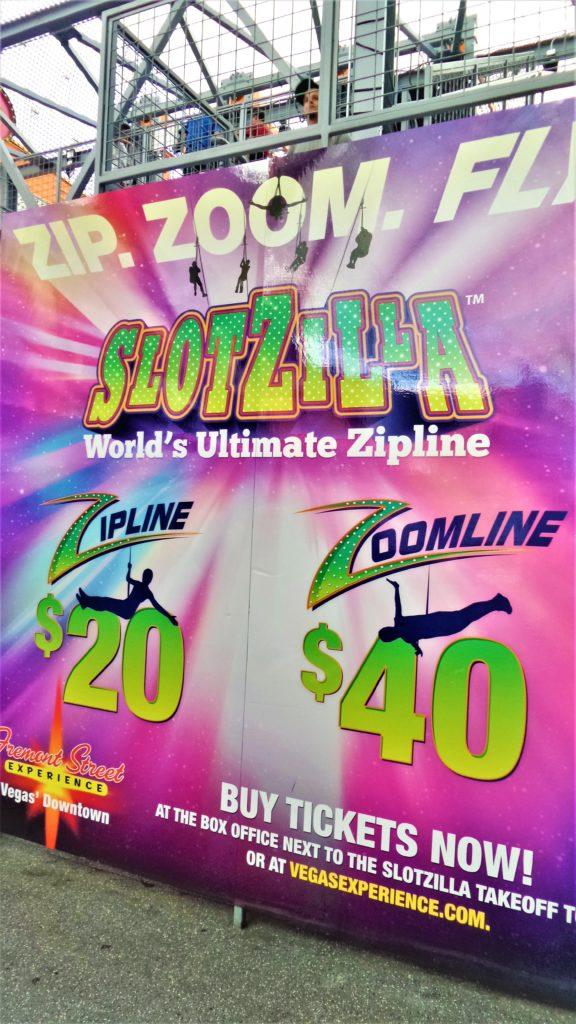 Slotzilla prices, zipline, fremont street, las vegas