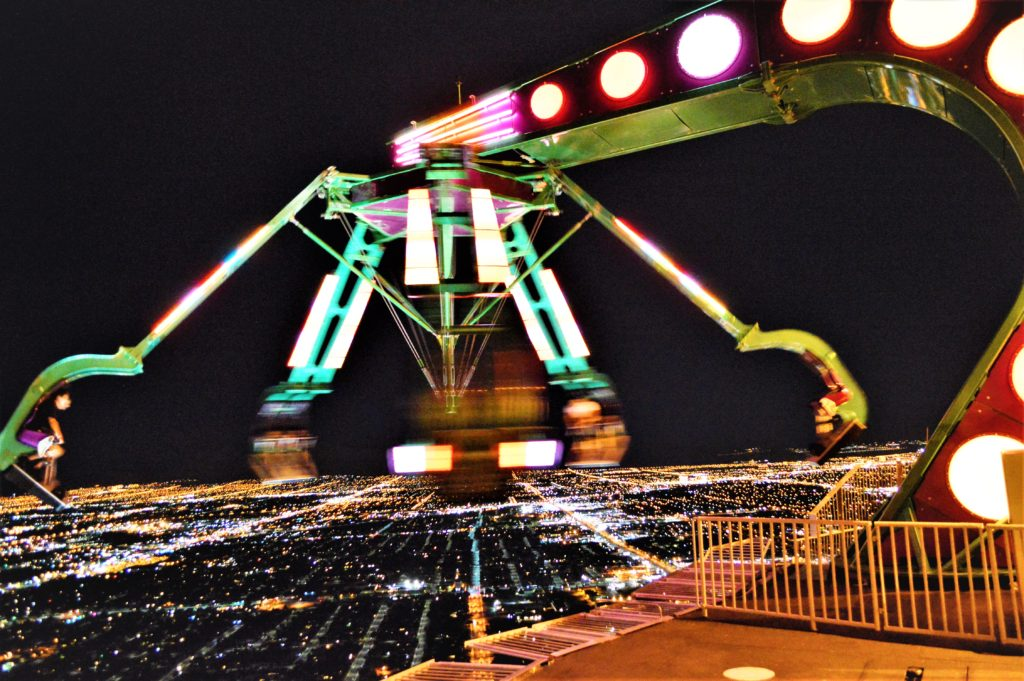 Spinny ride, top of stratosphere, las vegas, nevada