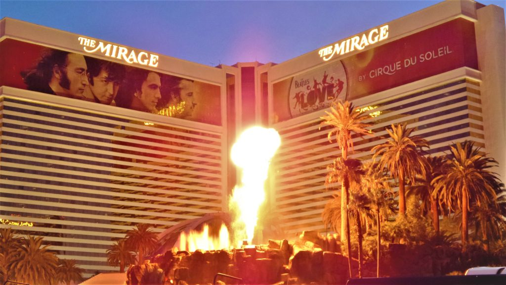 The Mirage hotel volcano, Las Vegas