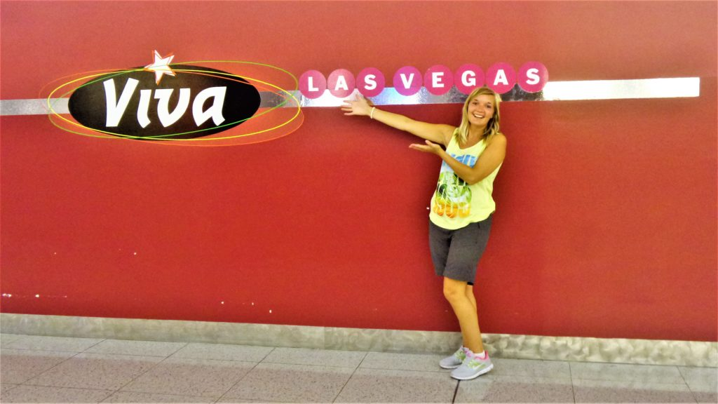 Viva las vegas sign, mccarren airport, nevada