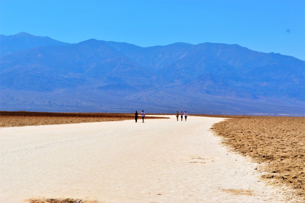 Walking on Salt Flats in Death Valley National Park
