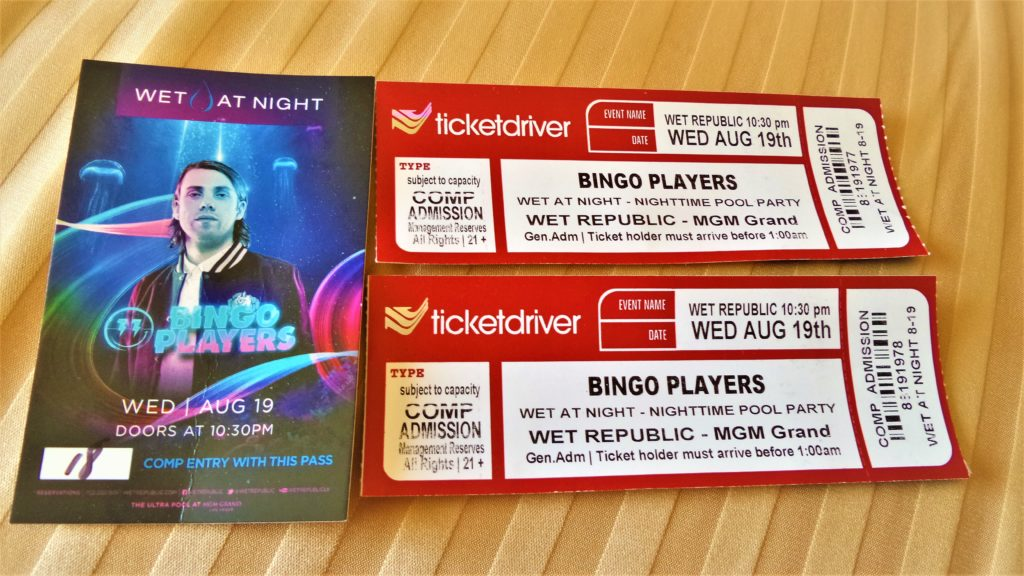 Wet republic pool party tickets, las vegas