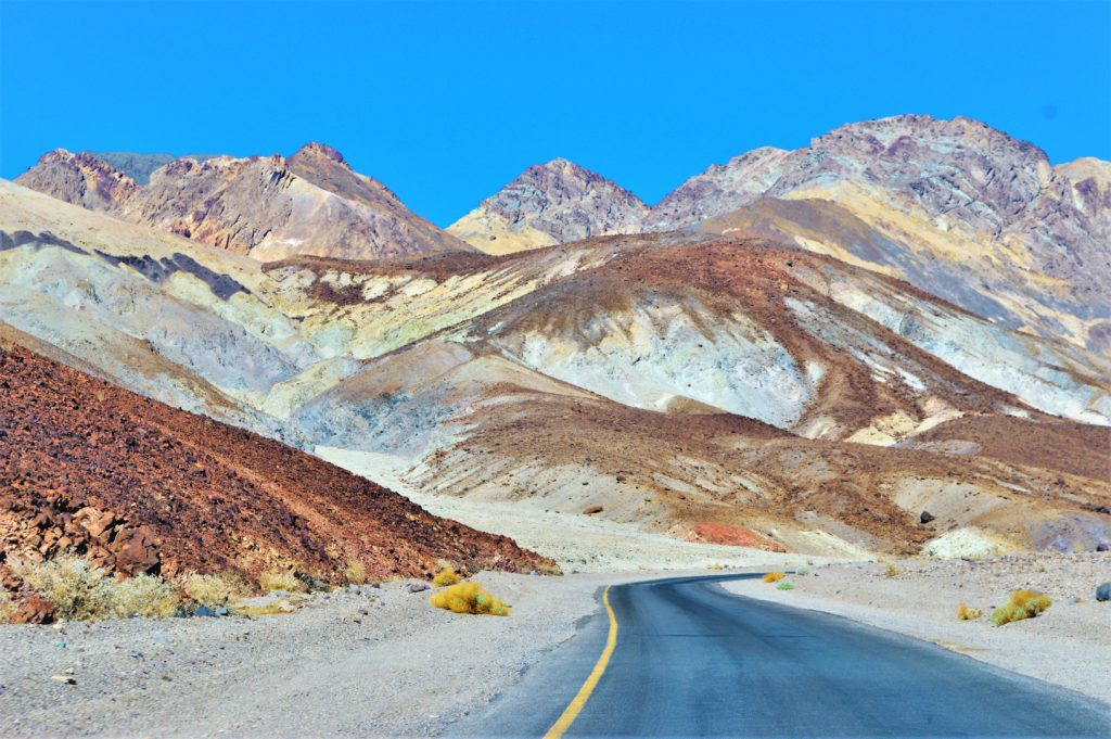 Winding road, artist drive, death valley national park, usa