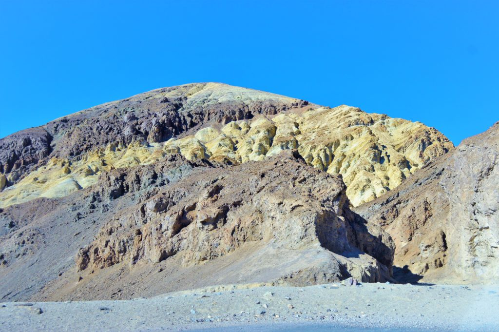 Yellow rocks, death valley national park, usa