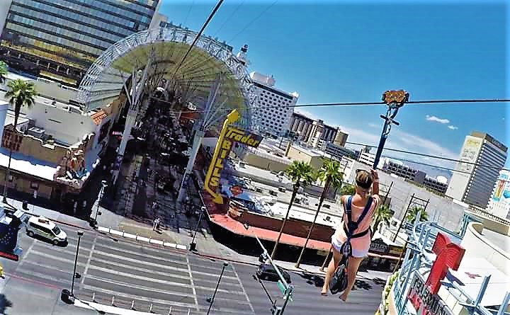 zip line on Fremont street, las vegas Nevada