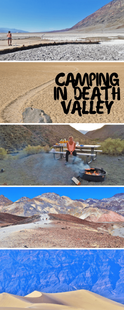 camping in death valley, usa