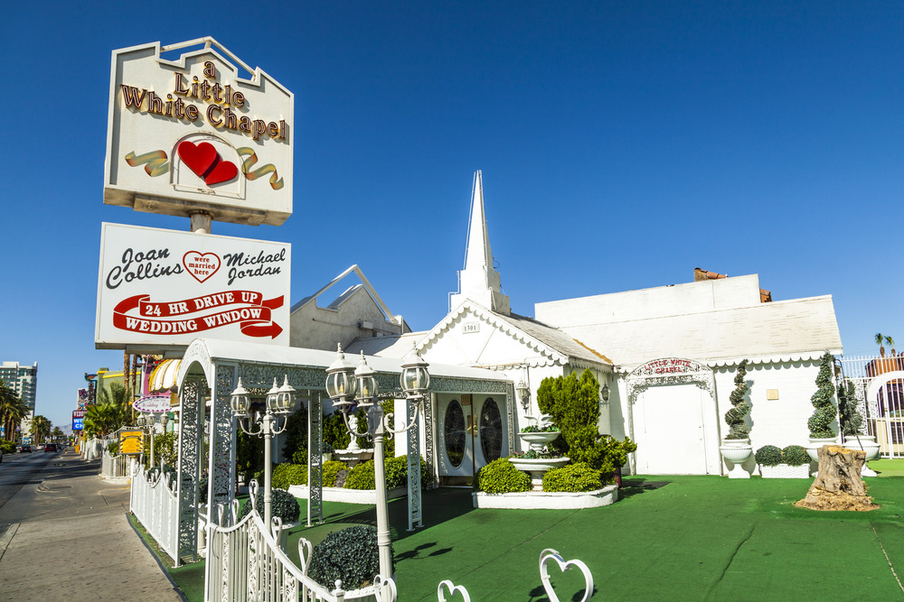 A little white chapel wedding venue las vegas, nevada