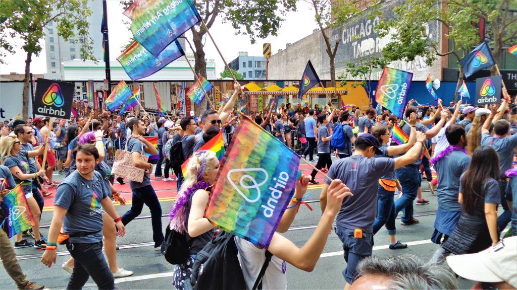 Air BNB at San Francisco Gay Pride, California