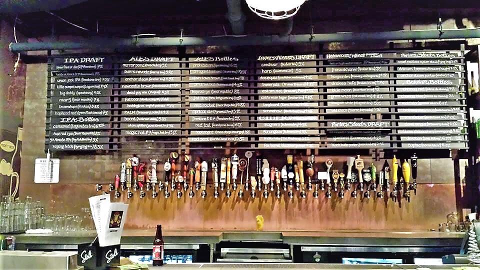 Beer on offer at Golden Gate Tap Rooms, San Francisco