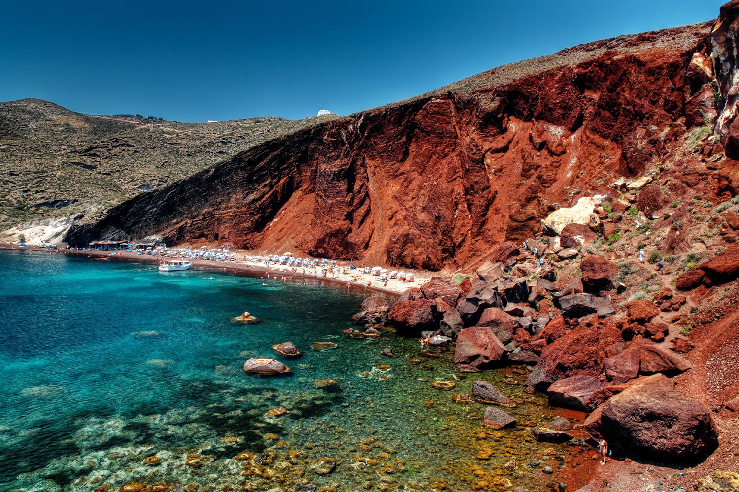 Best beaches in the world, Red Beach Santorini, Greece