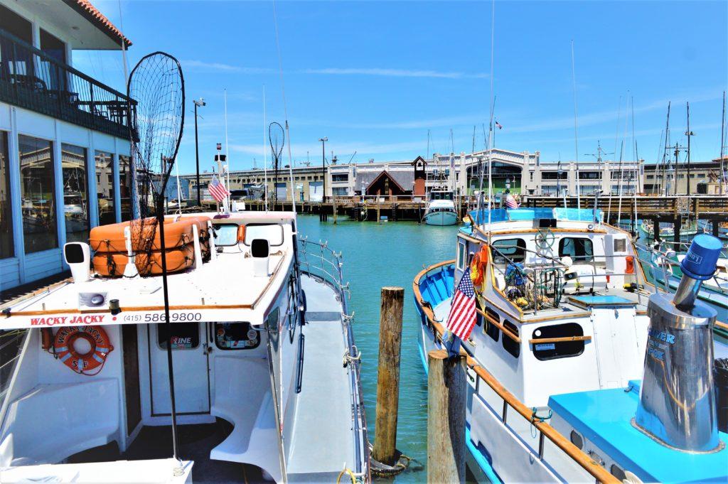 Boats at the marina, Fisherman's wharf, San Francisco, California, USA