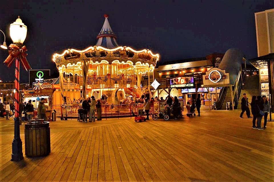 Carousel, Pier 39, San Francisco at night