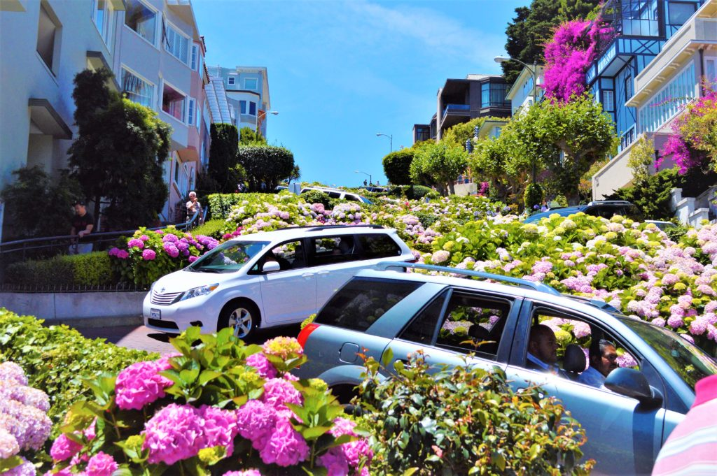 Cars on Lombard Street, San Francisco, USA