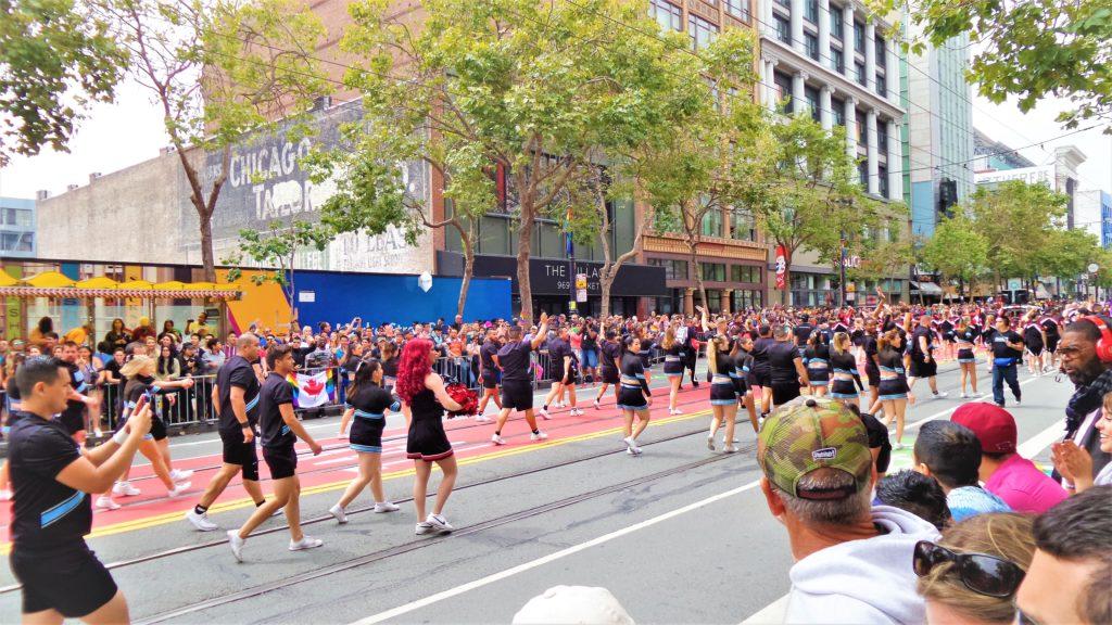 Cheerleaders, San Francisco Gay Pride, California, USA