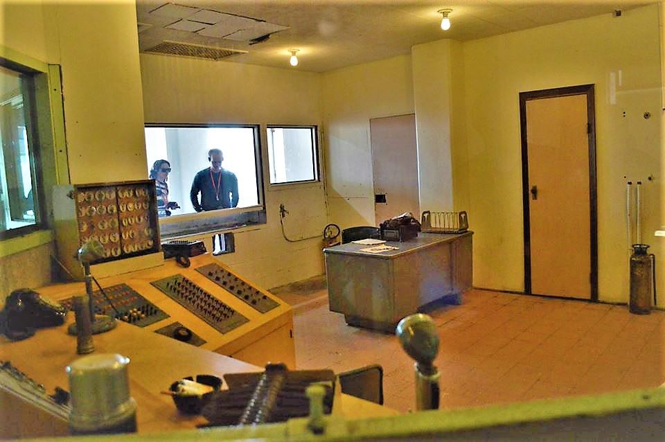 Control room, Alcatraz Prison, California
