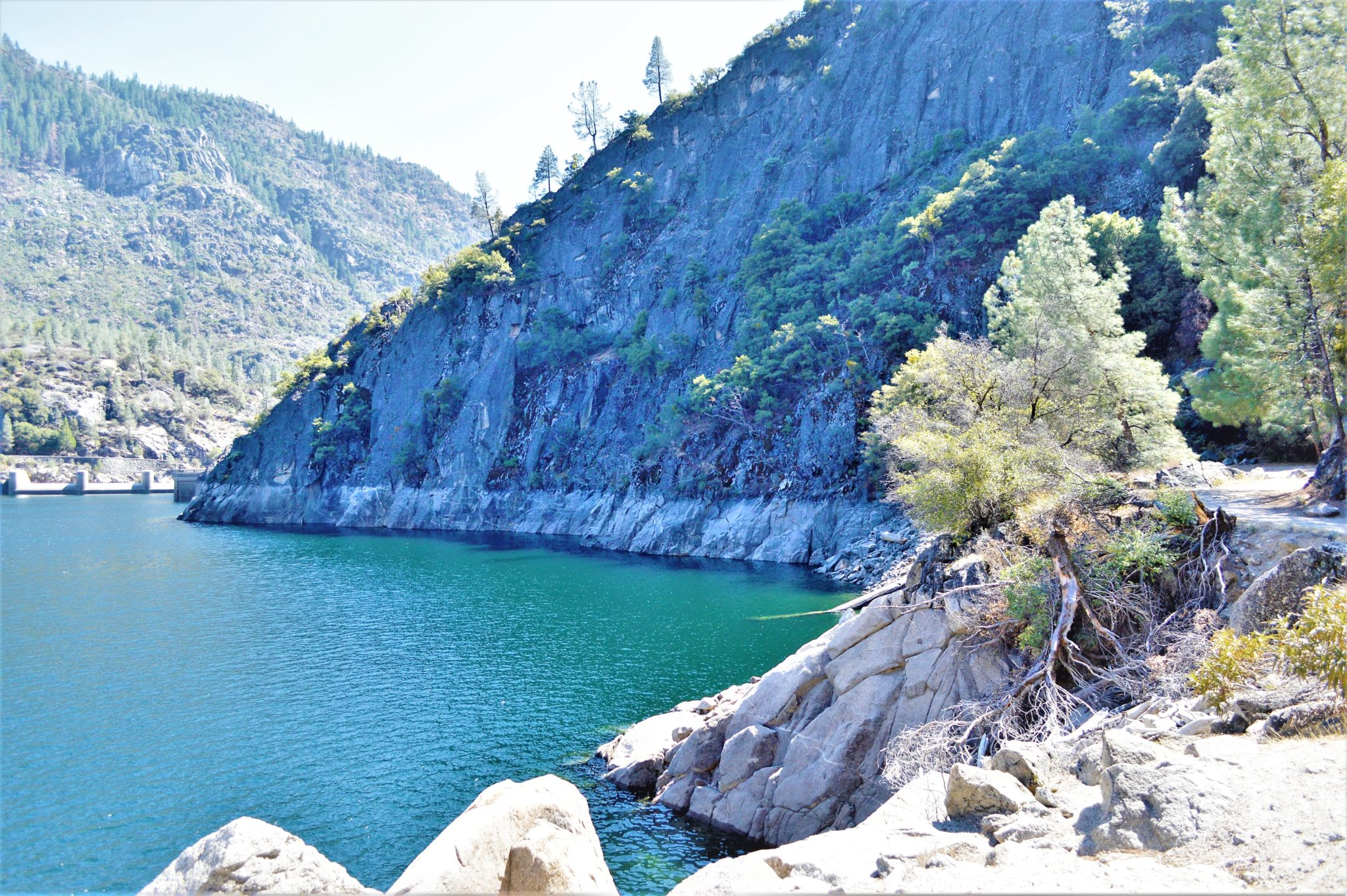 Drought wall at Hetch Hetchy reservoir, California