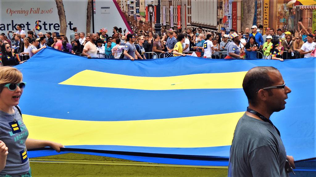 Equality flag, San Francisco gay pride, California
