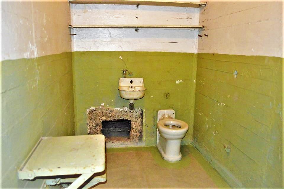 Escape from Alcatraz prison cell, San Francisco, California