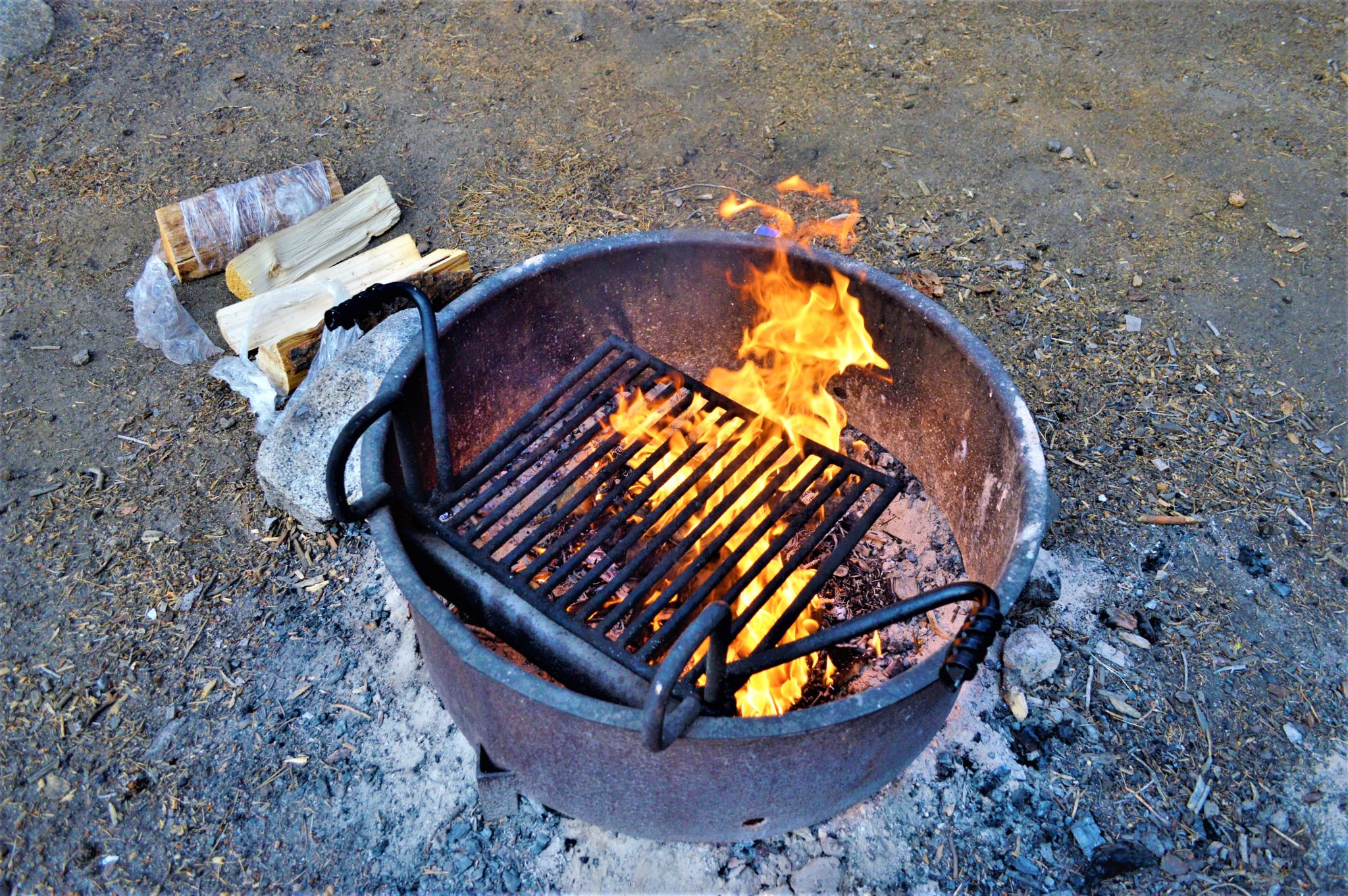 Firewood, Campfire at Yosemite National Park, California