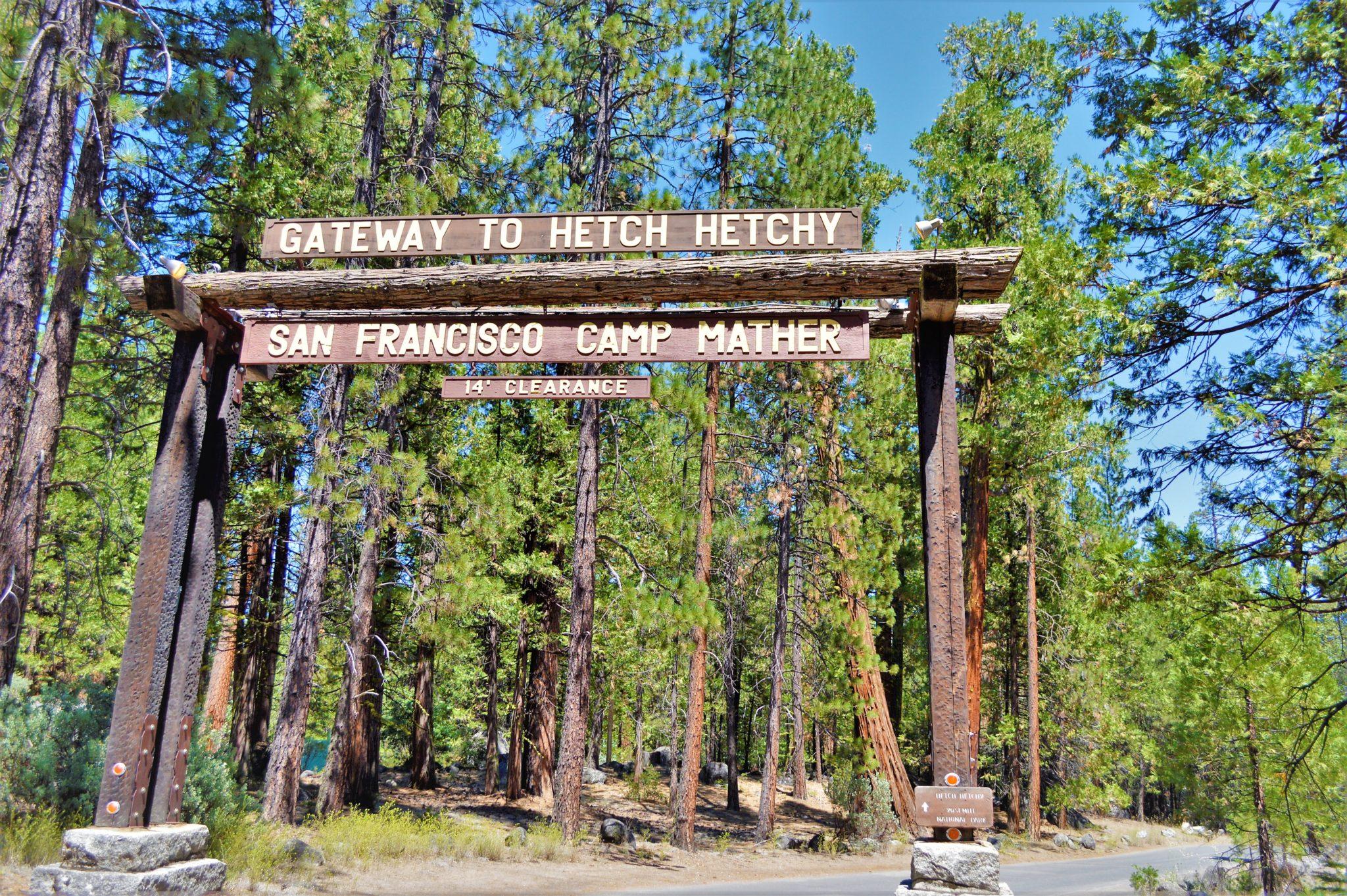 Gateway to Hetch Hetchy park, California