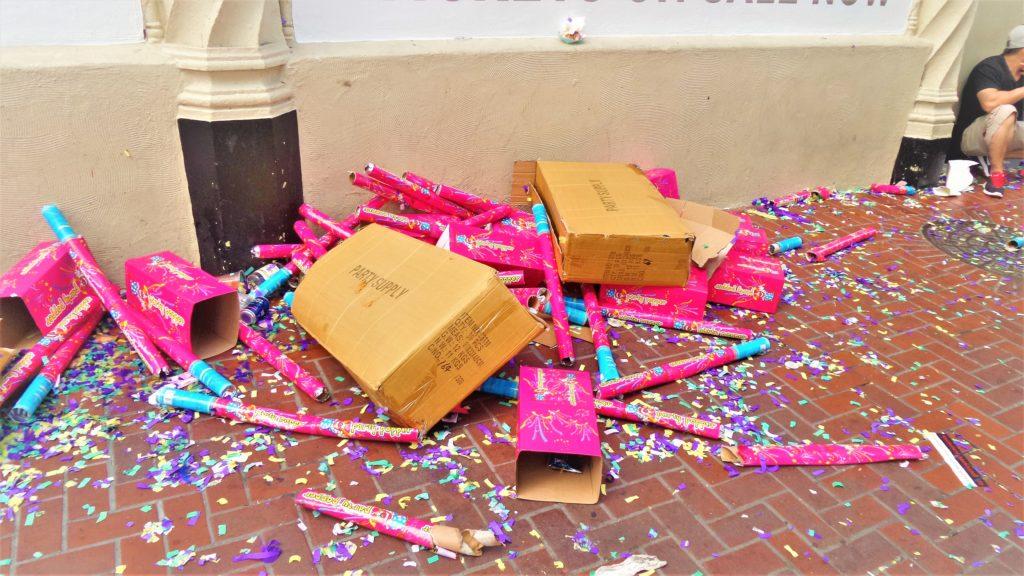Glitter bombs, san Francisco gay pride parade