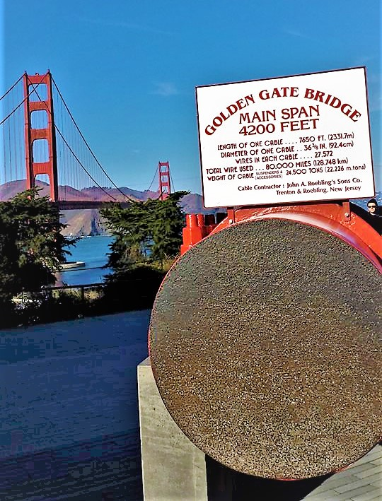 Golden Gate Bridge actual cable, San Francisco