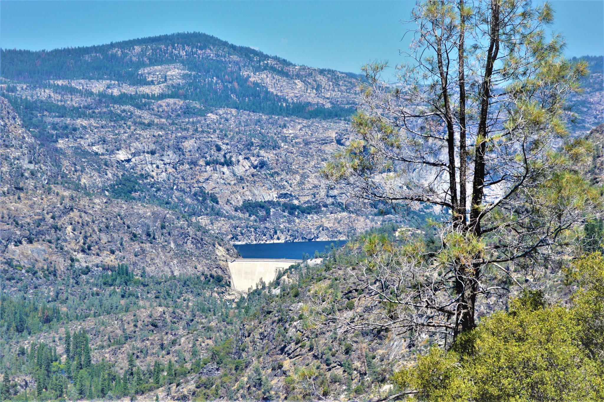 Hetch Hetchy dam, close up, California