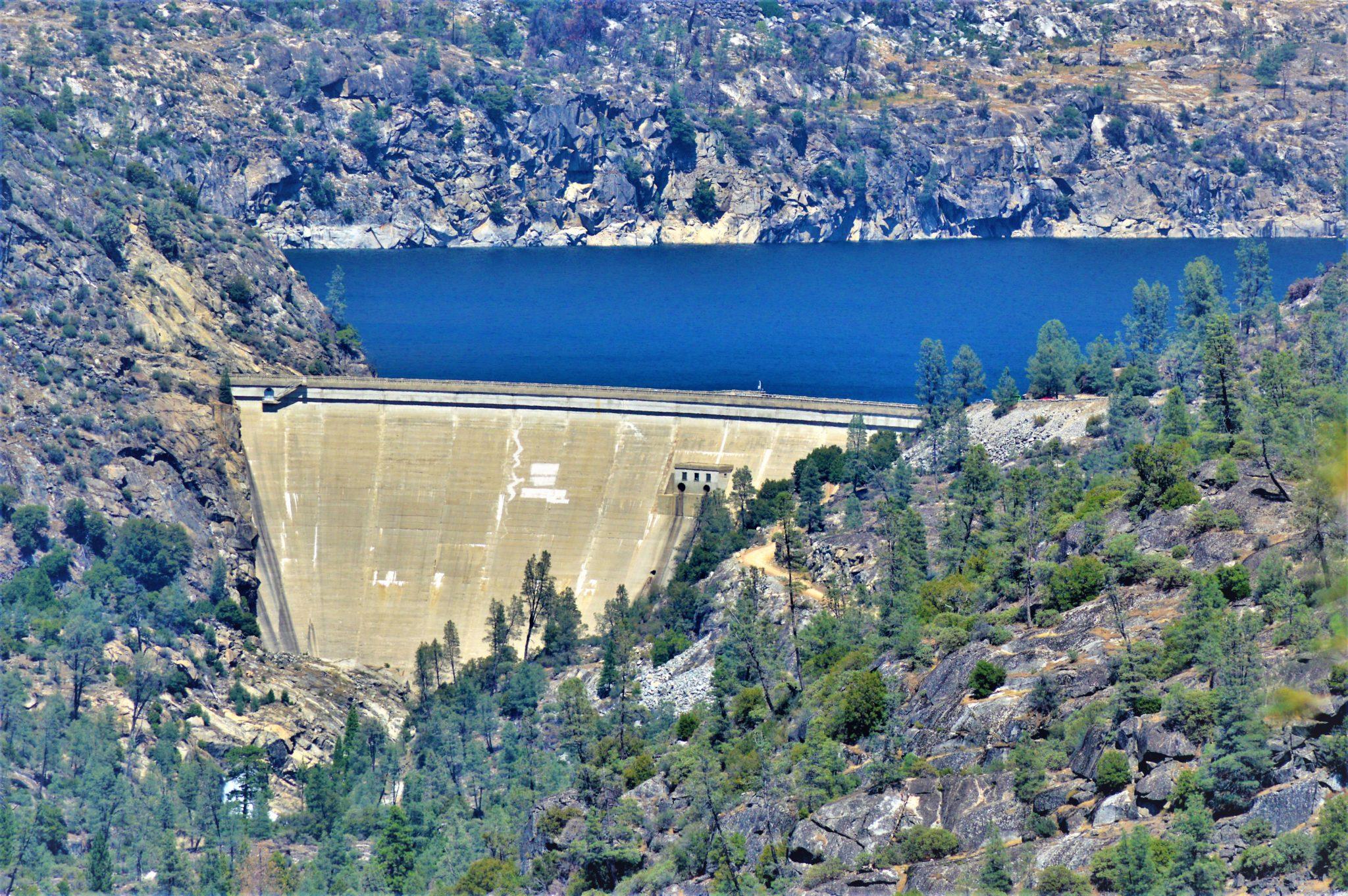 Hetch Hetchy dam, water, California